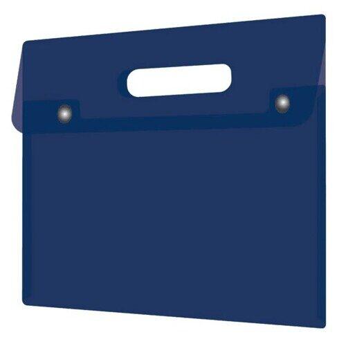 Папка для документов Феникс+, А4, пластиковая, 180 мкм, синий, арт.48225