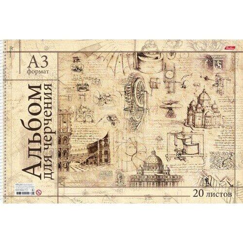 """Альбом для черчения Hatber """" Римский коллаж"""",  А3,  20л, спираль, 190г/м2, арт. 281079/20Ач3Асп_18536"""
