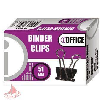Зажим канц. iOffice 51мм черный, 12шт/уп, IO-BC51