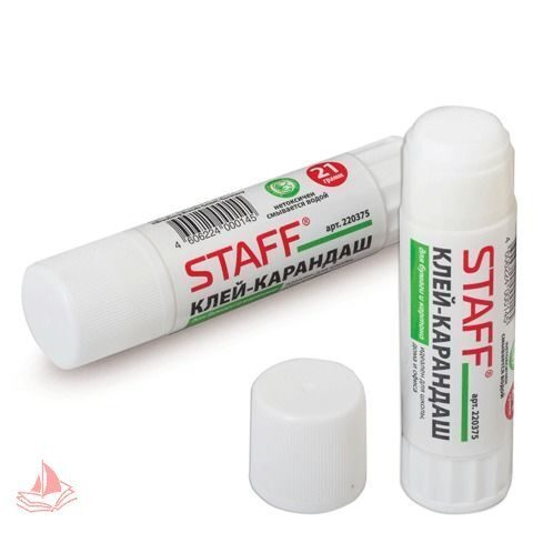 Клей-карандаш 21г STAFF, арт. 220375