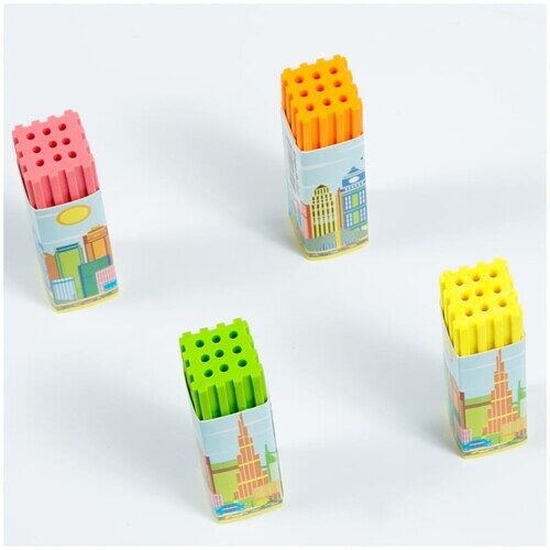 """Ластик ArtSpace """"Город"""", прямоугольный, термопластичная резина, ассорти, 60*15*15мм"""