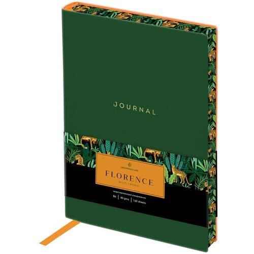 """Ежедневник недатированный B6 160л. Greenwich Line """"Florence. Wild tropic"""", кожзам, цветной срез, ENB6-30012"""