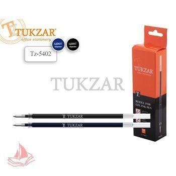 Стержень гелевый Tukzar 133мм синий 0,5мм пулевидный пишущий узел, с защитным колпачком, TZ 5402(Копия)