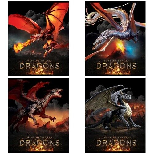 "Тетрадь ArtSpace ""Драконы. Lords of heaven"", А5, 48л, ТВИН-лак"