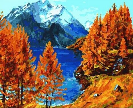 """Холст с красками по номерам """"Осенний лес"""", 40х50см"""