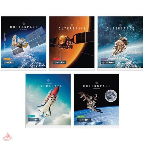 "Тетрадь 48л. А5 клетка ""Космос. Outerspace"", ТВИН-лак, Т48кТЛ_7738"