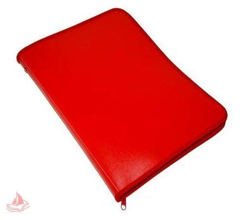Папка для тетрадей Пчелка,  А4, 1 отделение, красная, пластик, молния вокруг, арт. ПМ-А4-11