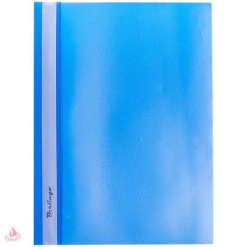 Скоросшиватель пластик. А4 Berlingo, 180мкм, синяя с прозр. верхом, арт. ASp_04102