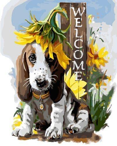 """Холст с красками по номерам PaintBoy """"WELCOME"""", 40х50 см"""