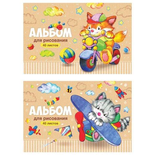 """Альбом для рисования ArtSpace """"Веселые мультяшки"""", А4, 40л, на скрепке, арт.  А40_20249"""