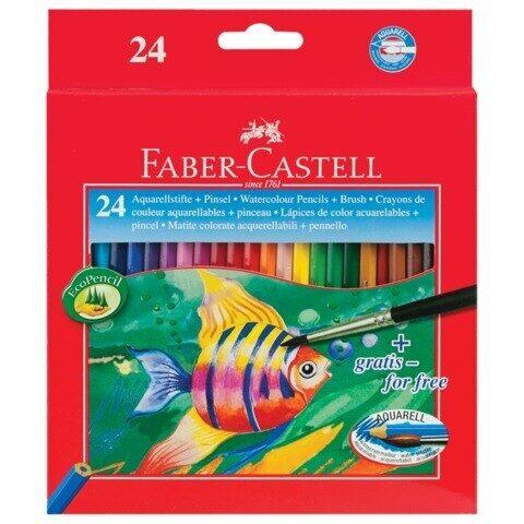 Карандаши акварельные Faber-Castell, 24 цветов + кисть, арт. 114425