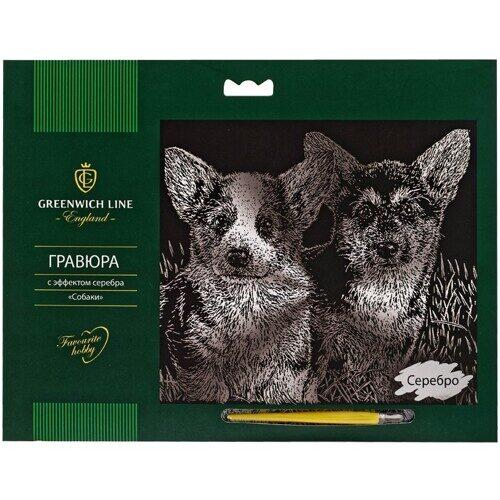 """Гравюра Greenwich Line """"Собаки"""", с эффектом серебра, 29*21 см, арт. EA_22555"""
