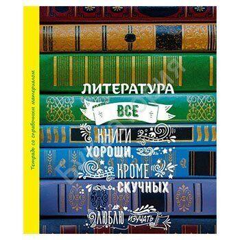 """Тетрадь предметная БиДжи """"Литература - Люблю изучать"""" А5,  48 листов, линия, арт. 4782"""