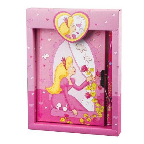 "Блокнот BRAUBERG ""Принцесса"", 7БЦ, А5, 56 л., замок+ручка, блестки, подарочная упаковка, арт. 128403"