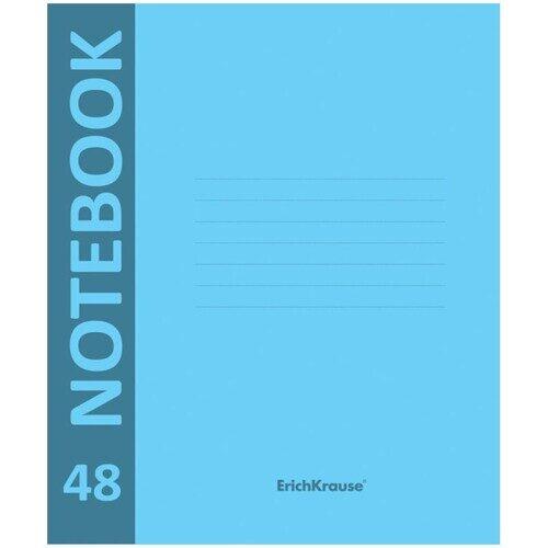 """Тетрадь Erich Krause """"Neon"""", А5, 48л, клетка, голубая пластиковая обложка"""