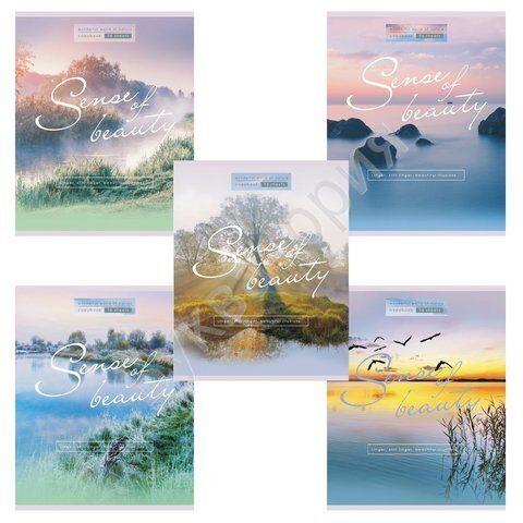 """Тетрадь HATBER  """"Sense of beauty"""" А5, 96 листов, клетка, обложка мелованный картон"""
