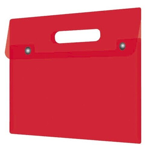 Папка для документов Феникс+, А4, пластиковая, 180 мкм, красный, арт.48225