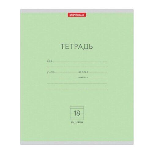 "Тетрадь ERICH KRAUSE, А5, 18 л. линия, обложка картон, ""классика зеленая"""