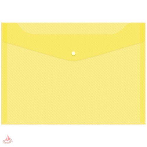Пaпка-конверт на кнопке А4 OfficeSpace, 150мкм, желтая. Fmk12-2 / 220894