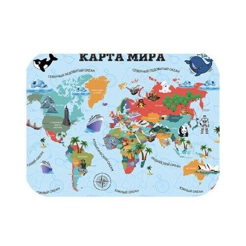"""Настольное покрытие для лепки Пчелка """" Карта мира"""",  330*230 мм"""