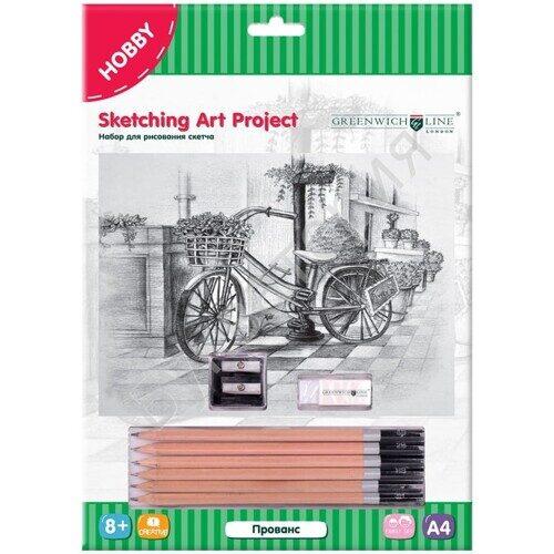 """Набор для рисования скетча Greenwich Line """"Прованс"""", A4, арт. SK_14634"""