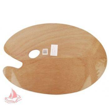 Палитра деревянная овальная 25*30 3мм, арт. DK18445