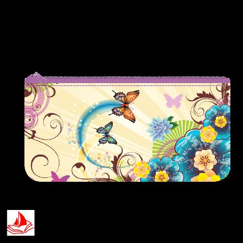 "Пенал-косметичка на молнии Пчелка 1 отд. ""Цветы"", печать на ткани, арт. К-5"