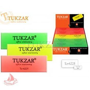 Ластик Tukzar прямоугольный 51*19мм 3 цвета, арт. TZ 6225