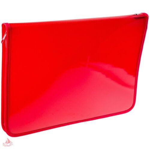 Папка для тетрадей Пчелка  А5, 1 отделение, красная, пластик, молния вокруг, арт. ПМ-А5-11/2