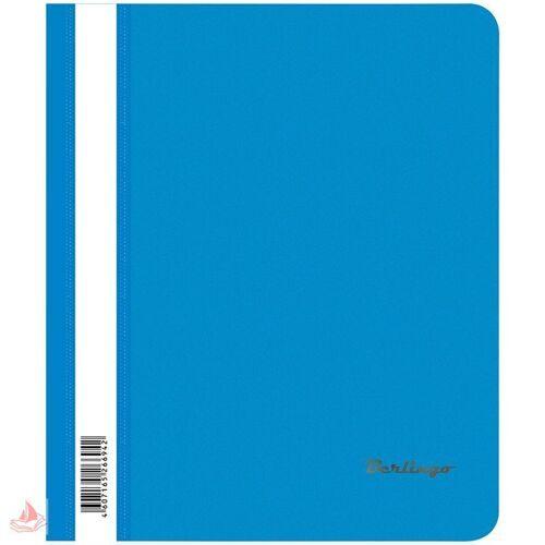 Скоросшиватель пластик. А5 Berlingo, 180мкм, синяя с прозр. верхом, арт. ASp_05102