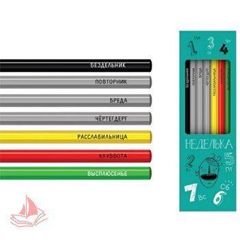 Набор карандашей ч/гр Сибирский Кедр 6шт (HB) Неделька шестигранные, деревянные, арт. СК555/4
