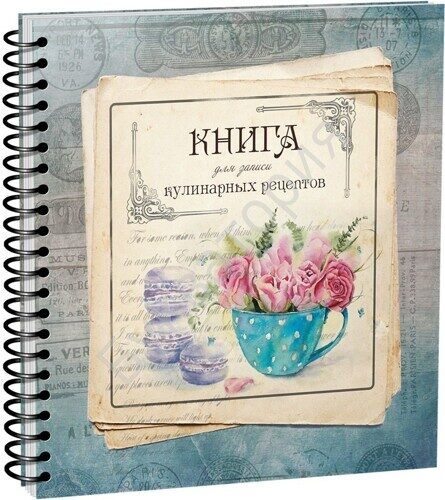 Книга для записи кулинарных рецептов. Вид 4 (3904)