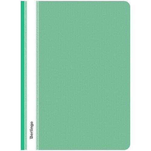Скоросшиватель Berlingo, А4, пластиковый, зеленый, 180 мкм, арт. ASp_04104