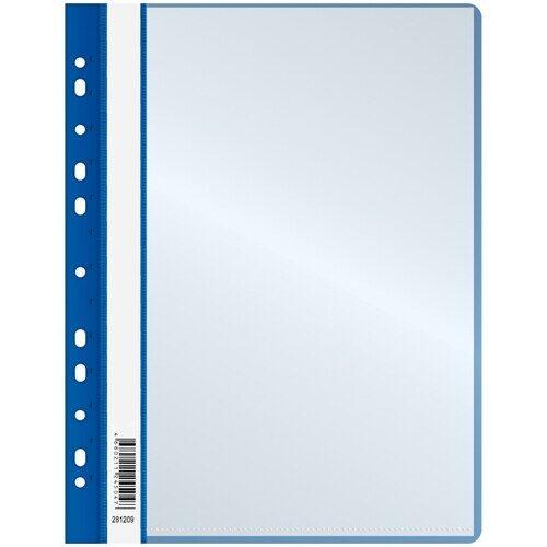 Папка OfficeSpace А4, с 10 вкладышами с перфорацией, синяя, 160 мкм
