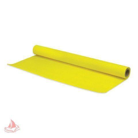 Фетр для творчества в рулоне, 500х700 мм, BRAUBERG/ОСТРОВ СОКРОВИЩ, толщина 2 мм, желтый, арт. 660629