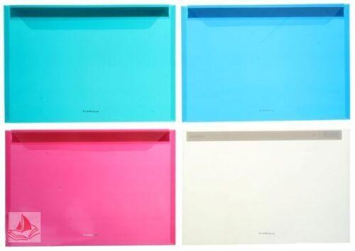 Папка-конверт А4 Erich Krause пласт, ассорти, Clear Project File, 30655