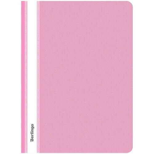 Скоросшиватель Berlingo, А4, пластиковый, розовый, 180 мкм, арт. ASp_04112