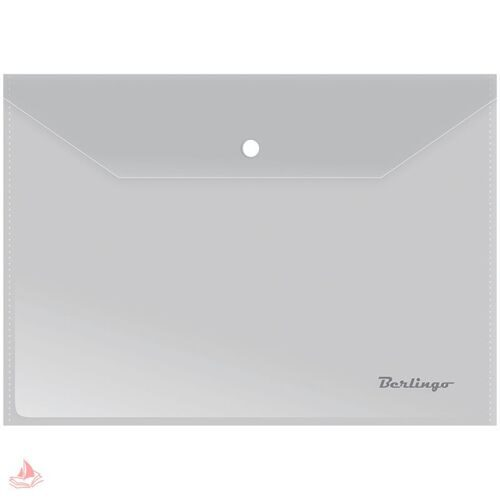 Папка-конверт на кнопке А4 Berlingo, 180мкм, матовая, AKk_04106