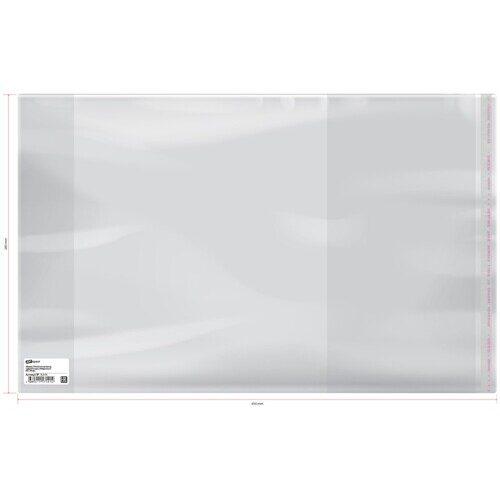 Обложка для учебников, контурных карт, рабочих тетрадей, универсальная с липким краем, 29,2 см*55 см ПП 80 мкм