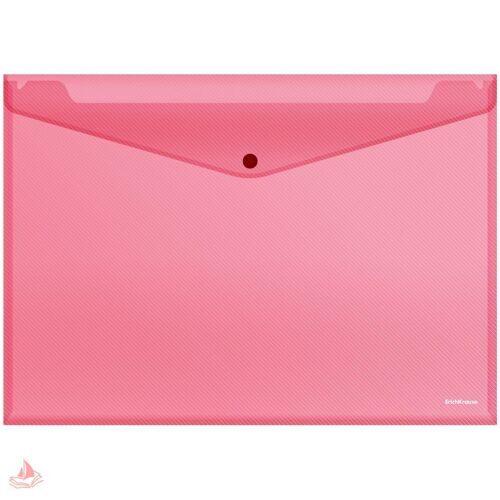 "Папка-конверт на кнопке А3 Erich Krause ""Envelope"", 180мкм, прозрачная, ассорти, 34708"