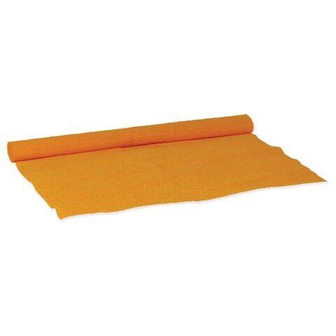 Бумага крепированная Остров сокровищ для творчества и флористики, 110 г/м2, оранжевая, 50х250 см, арт. 129149