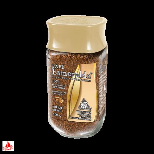 """Кофе Cafe Esmeralda """"Французская ваниль"""", сублимированный, 100 г."""