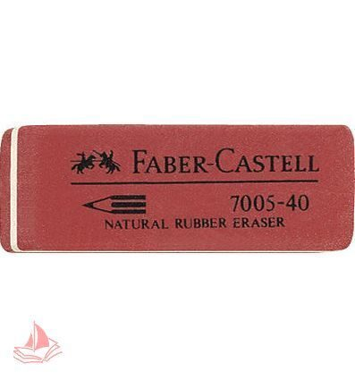 Ластик Faber-Castell 7005 34*14*8мм из каучука для графитных карандашей, арт. FC180580