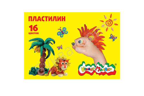 Пластилин Каляка-Маляка 16 цветов 240г, со стеком, арт. ПКМ16-П