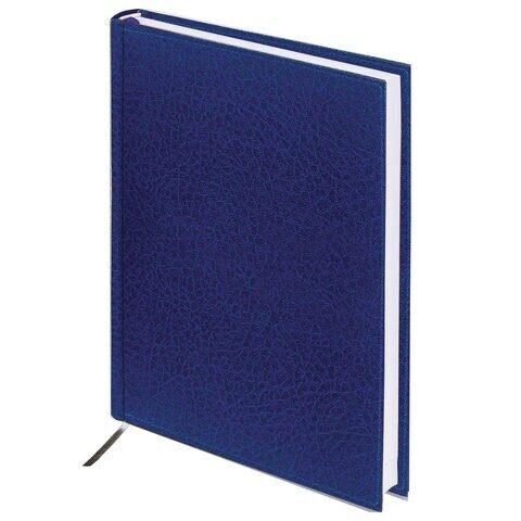 "Ежедневник BRAUBERG ""Profile"", А5, 160 л., недатированный, под фактурную кожу, синий, арт. 123426"