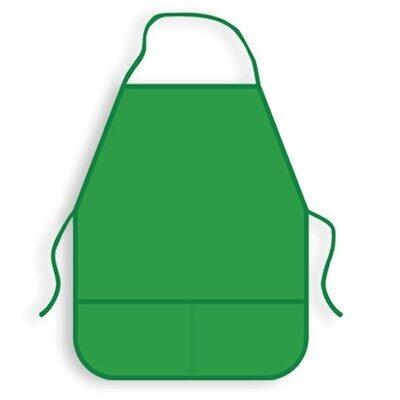 Фартук для труда Пчелка ФДТ-1 зеленый, ткань