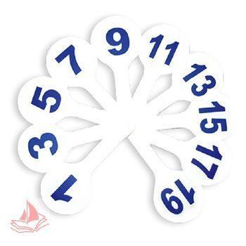 Грамматический веер Пчелка цифры до 9 облегченные, упаковка с европодвесом, арт. Ц-11-цифры