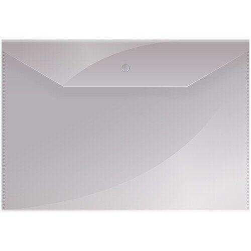 Пaпка-конверт на кнопке OfficeSpace, А4, 150мкм, прозрачная, Fmk12-1 / 220893