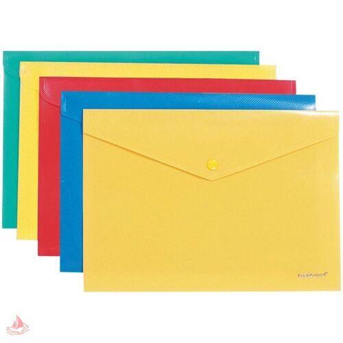 "Папка-конверт на кнопке B5 Erich Krause, ""Envelope Folder"", 180мкм, ассорти, 2994"